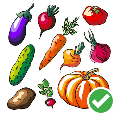 фрукты и овощи можно