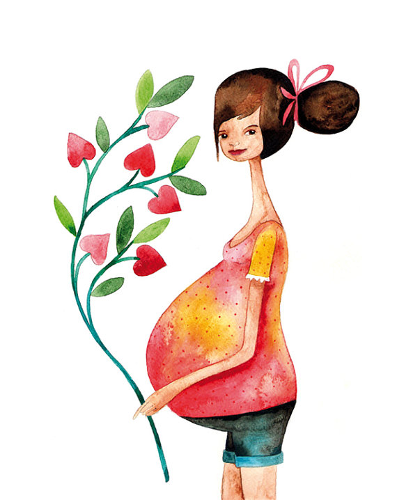 прогулка беременной