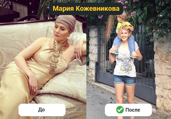 Как похудела Мария Кожевникова после родов